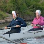 John rows at bow AND two...