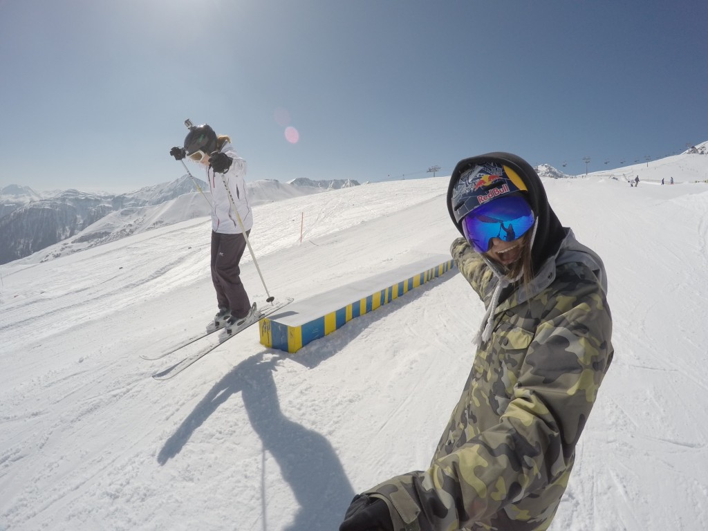 Oh, you know, just hanging out with world champion freeskier, Kaya Turski... Pic by Kaya Turski (squeal!)