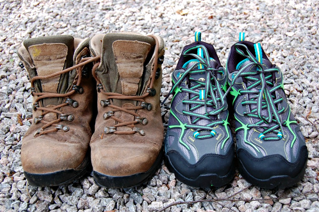 Merrell - Old and new walking boots