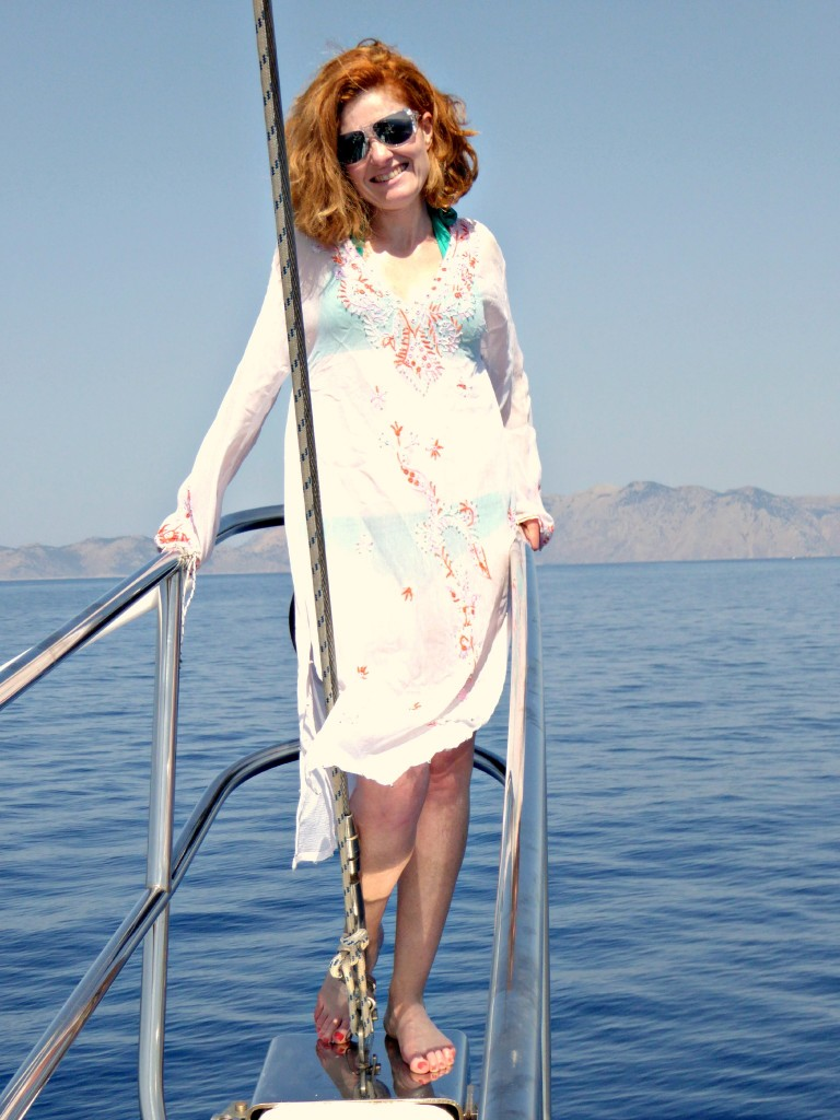 Patricia on deck