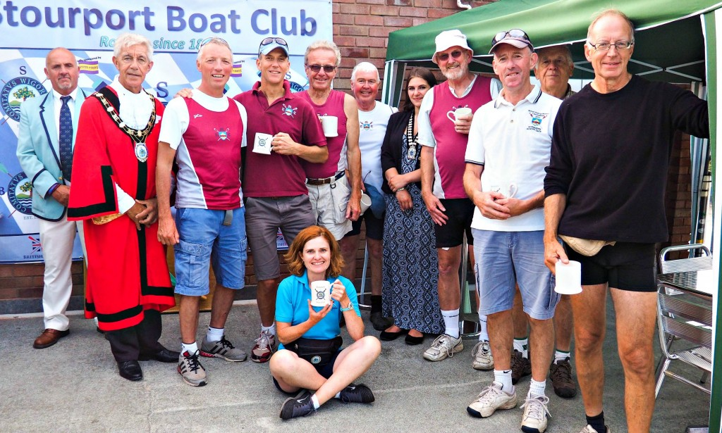 Thanks to Stourport BC for this lovely presentation pic of our MasG 8+ aka the Coffin Dodgers