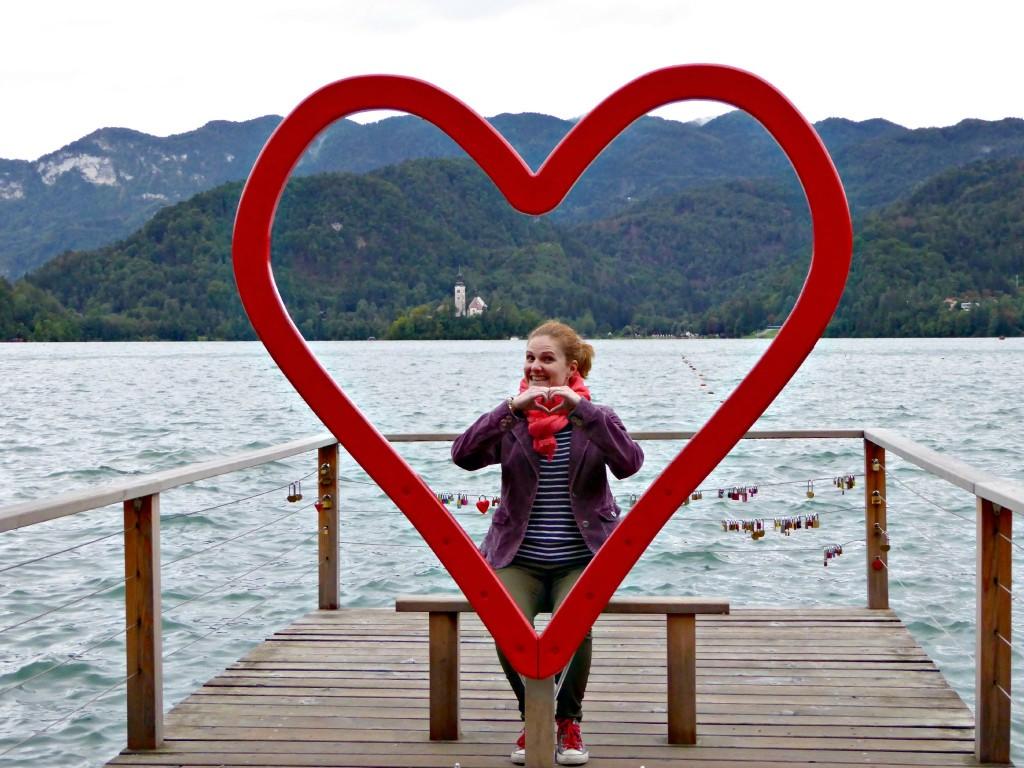 Feeling the love at Lake Bled ♥