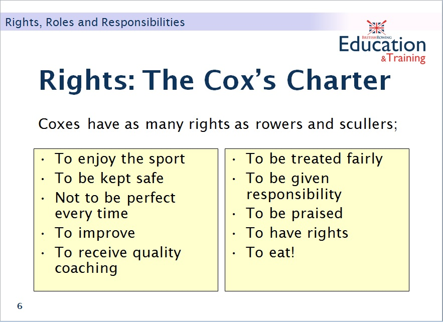 Cox's charter