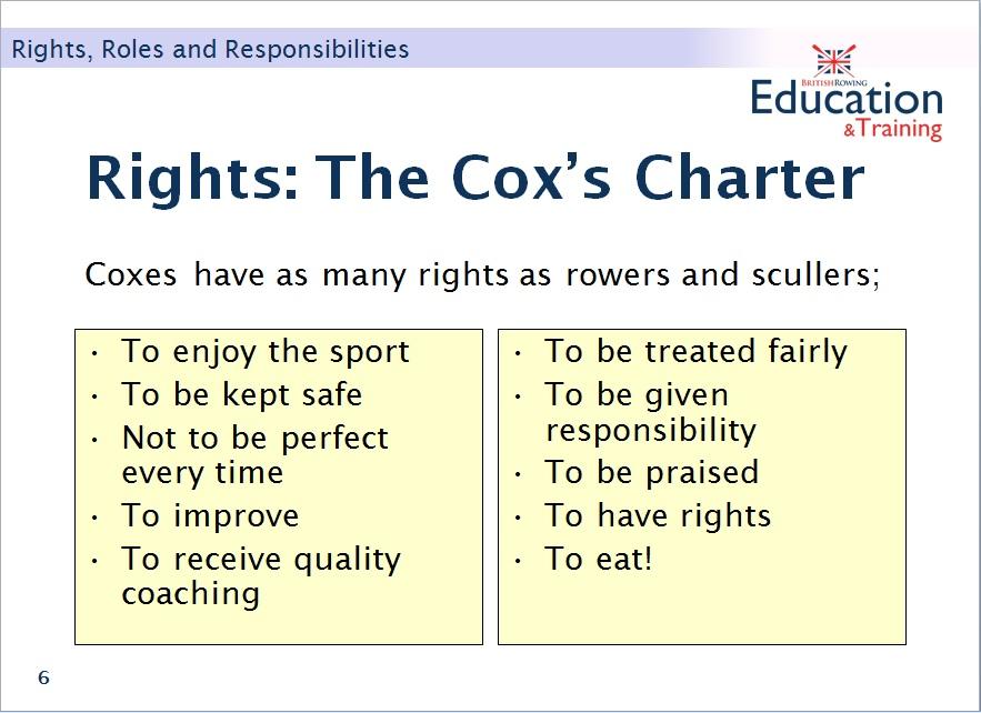 Cox's charter