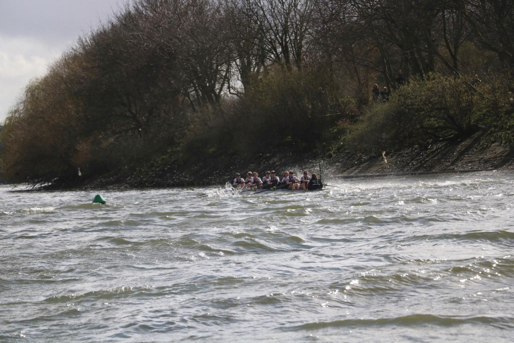 Morgan's incredibly bold line, keeping Oxford out of the choppy water. Pic by Ian Howell.