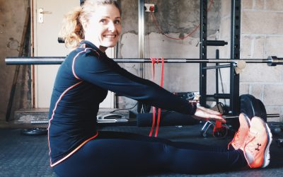 A hamstring stretch for rowers