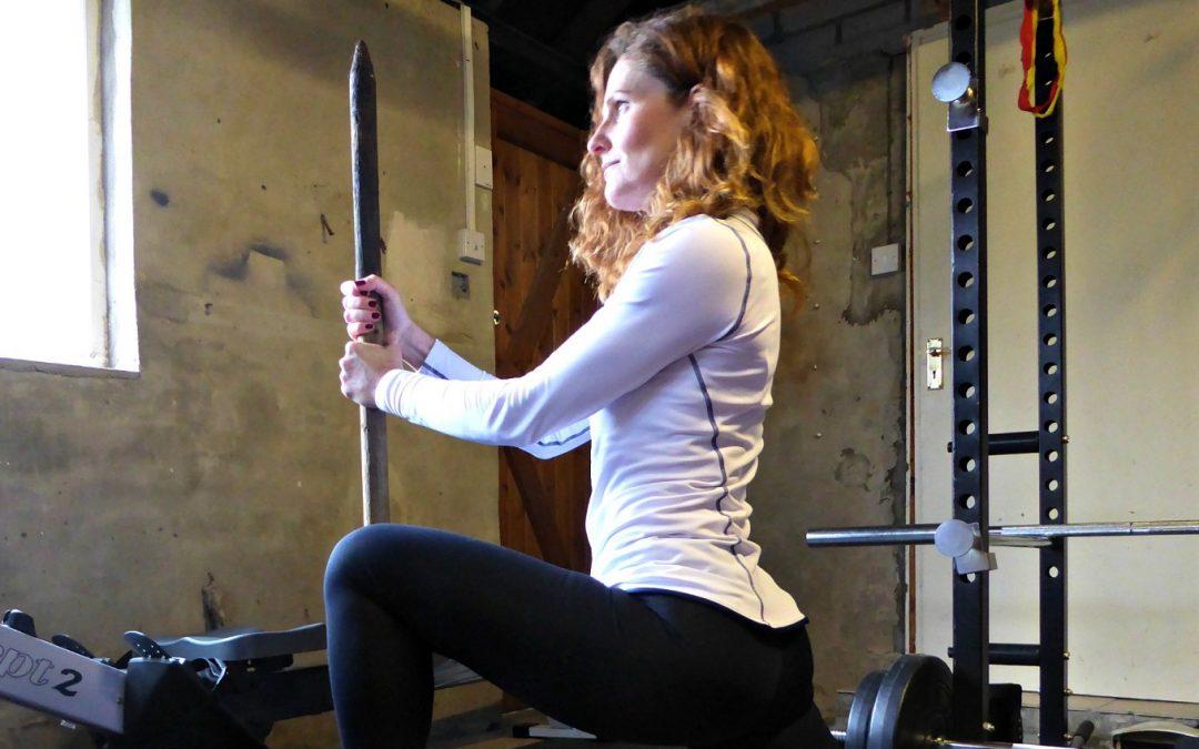 A hip flexor stretch for rowers
