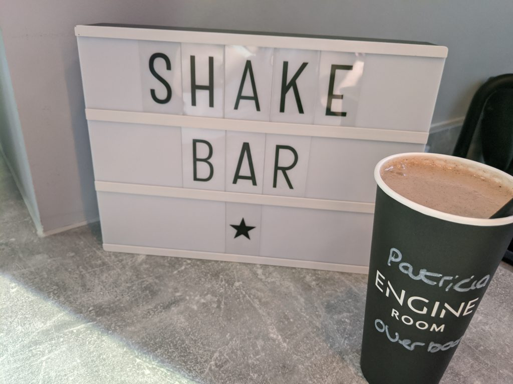 Shake bar at rowing studio Engine Room London