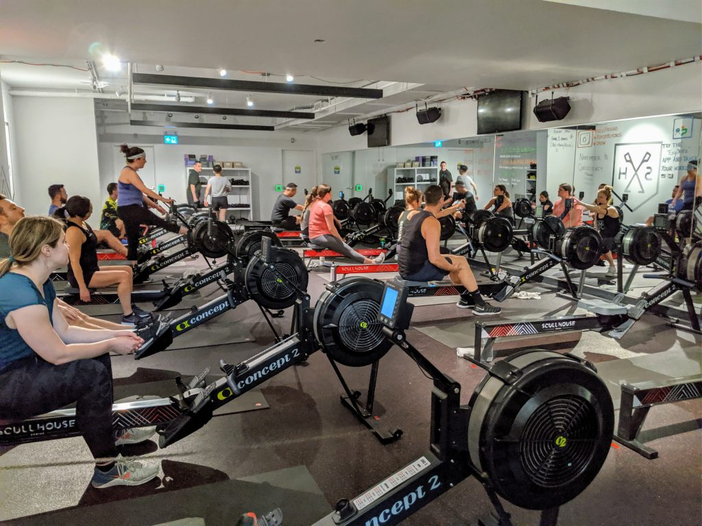 Indoor rowing classes - Scullhouse studion in Toronto
