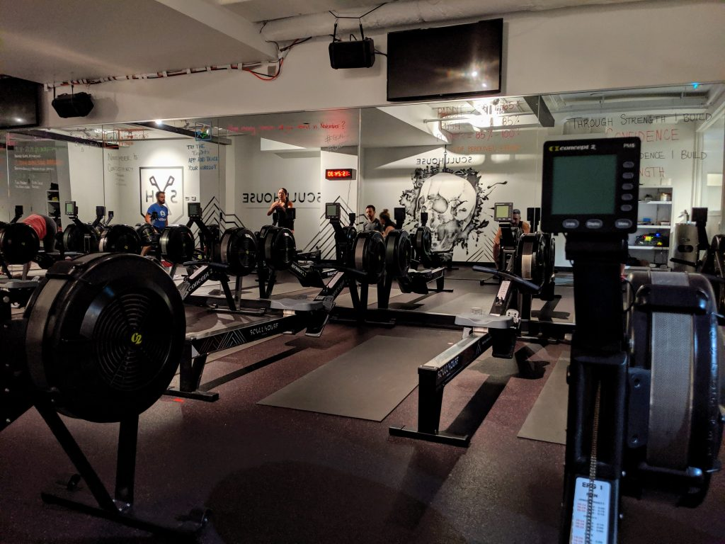 Indoor rowing classes - Scullhouse Studio in Toronto